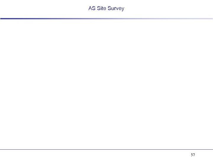 AS Site Survey 57