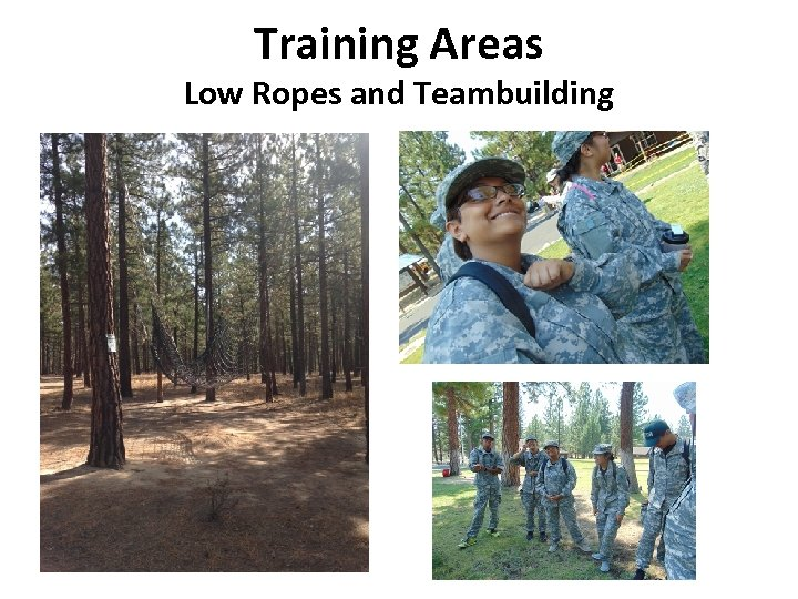 Training Areas Low Ropes and Teambuilding
