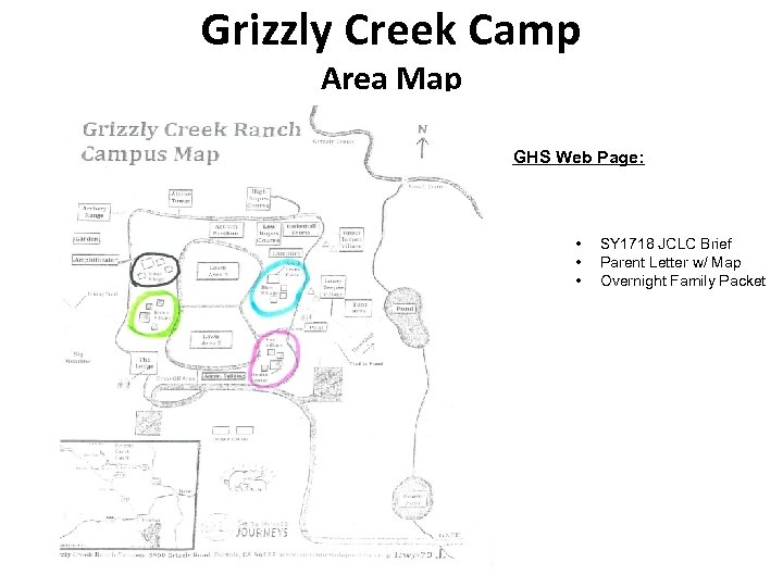 Grizzly Creek Camp Area Map GHS Web Page: • • • SY 1718 JCLC