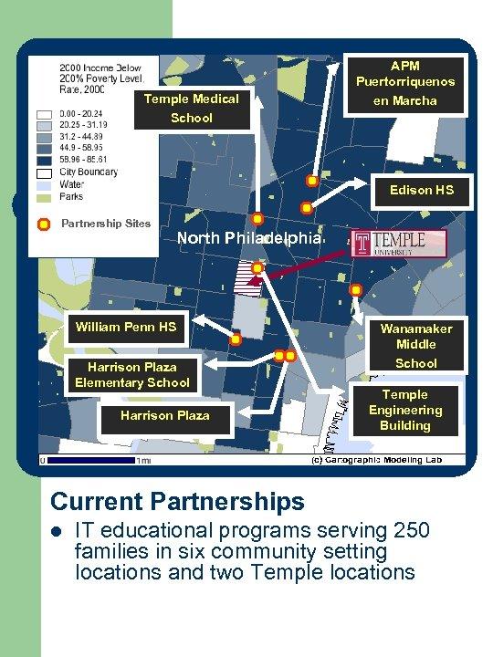 APM Puertorriquenos en Marcha Temple Medical Trajectory of University. School Community Partnerships in Philadelphia