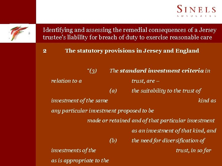 Identifying and assessing the remedial consequences of a Jersey trustee's liability for breach of