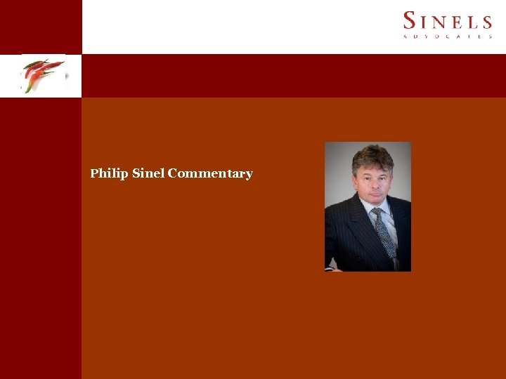 Philip Sinel Commentary