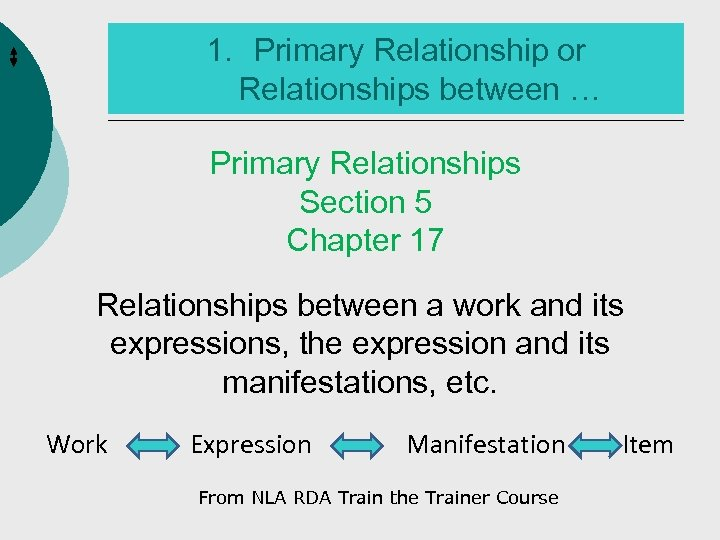 1. Primary Relationship or Relationships between … Primary Relationships Section 5 Chapter 17 Relationships