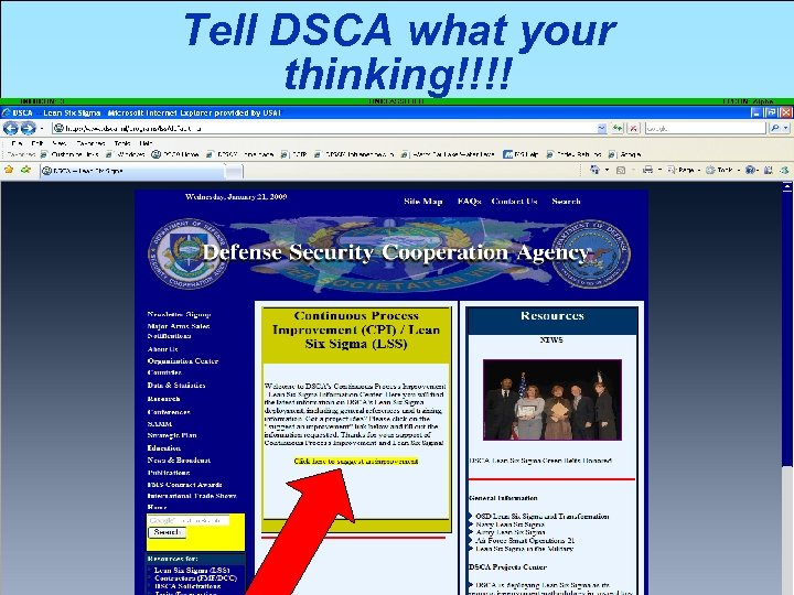 Tell DSCA what your thinking!!!! 04/14/08