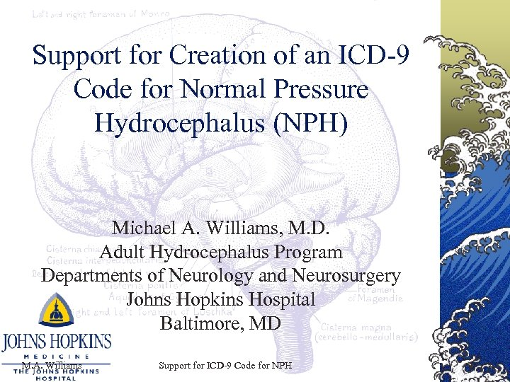Support for Creation of an ICD-9 Code for Normal Pressure Hydrocephalus (NPH) Michael A.