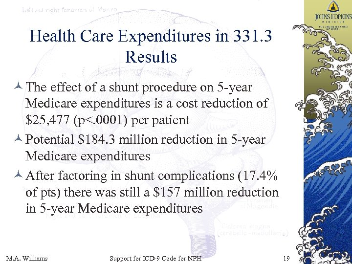 Health Care Expenditures in 331. 3 Results © The effect of a shunt procedure