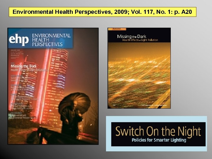 Environmental Health Perspectives, 2009; Vol. 117, No. 1: p. A 20