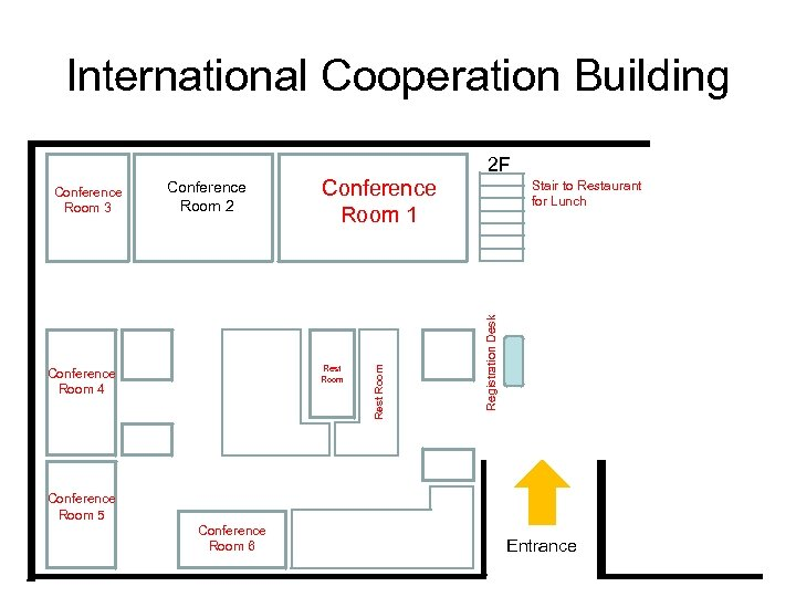 International Cooperation Building Conference Room 1 Rest Room Conference Room 4 Stair to Restaurant