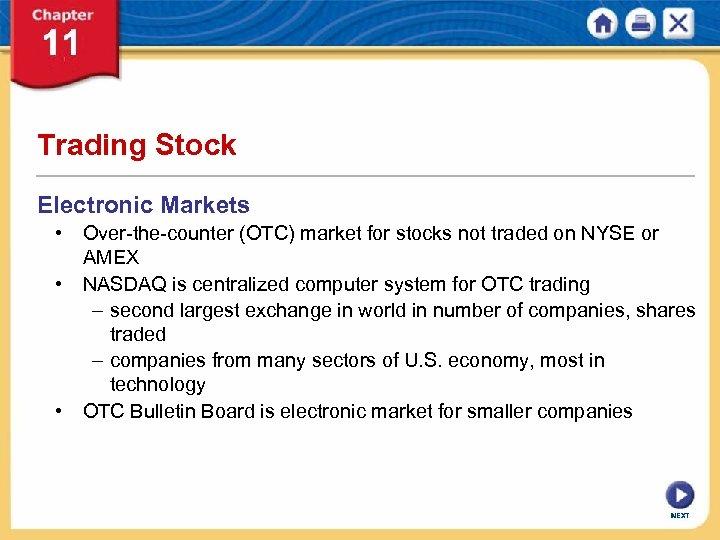 Nyse electronic trading system