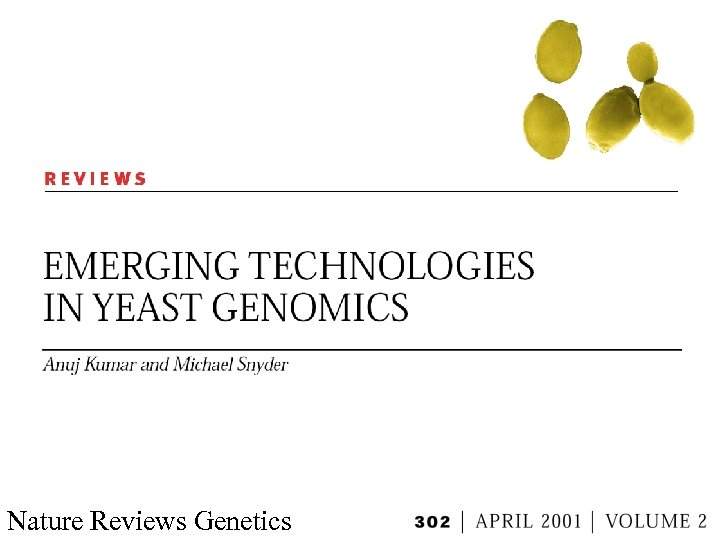 Nature Reviews Genetics