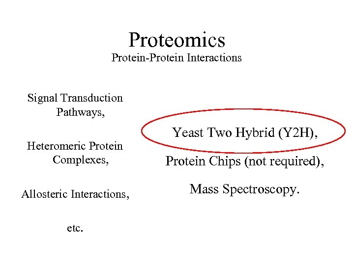 Proteomics Protein-Protein Interactions Signal Transduction Pathways, Yeast Two Hybrid (Y 2 H), Heteromeric Protein