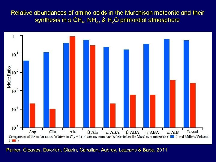 Relative abundances of amino acids in the Murchison meteorite and their synthesis in a