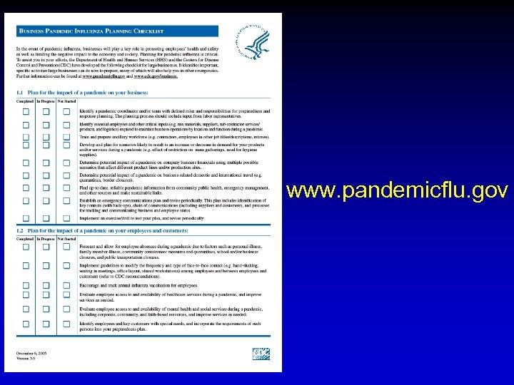 www. pandemicflu. gov