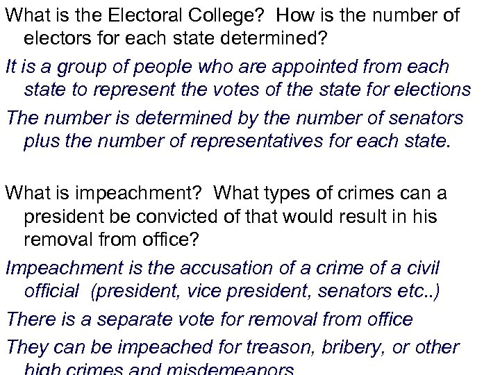 What is the Electoral College? How is the number of electors for each state