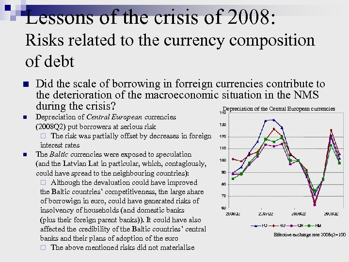 Lessons of the crisis of 2008: Risks related to the currency composition of debt