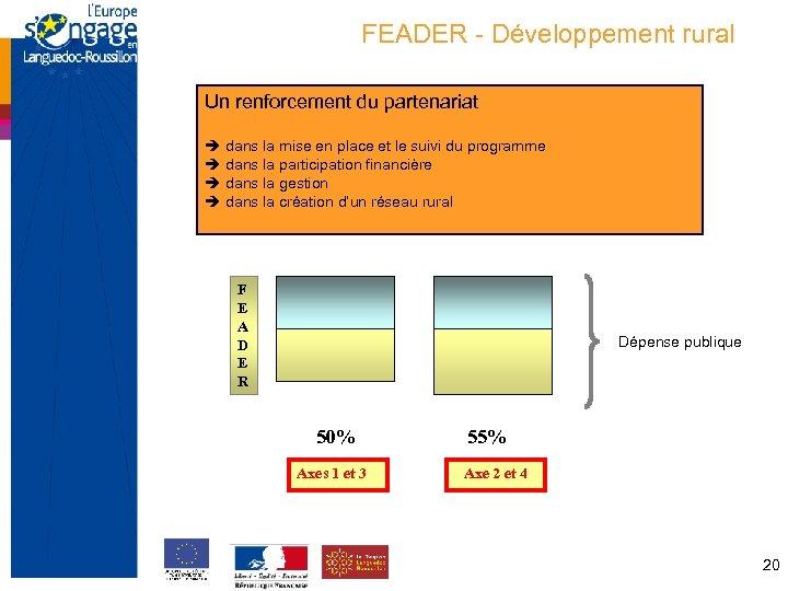 FEADER - Développement rural Un renforcement du partenariat dans la mise en place et