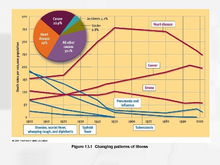 Figure 13. 1 Changing patterns of illness