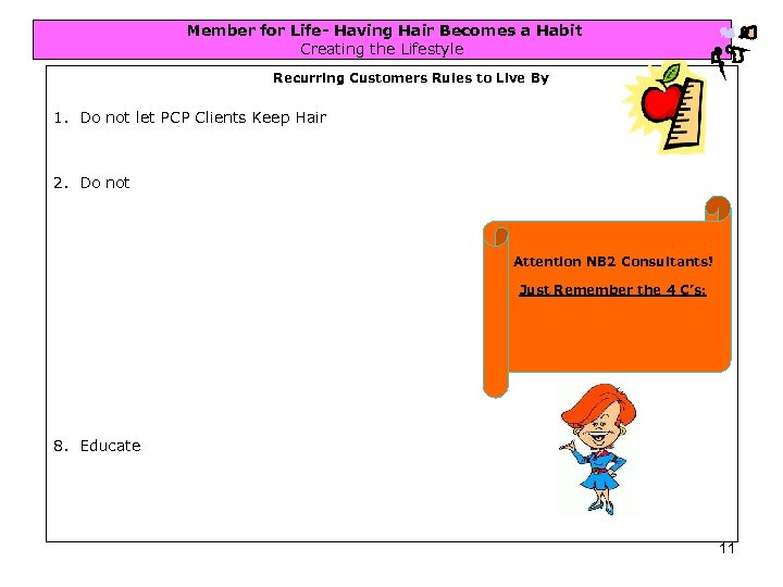Member for Life- Having Hair Becomes a Habit Creating the Lifestyle Recurring Customers Rules