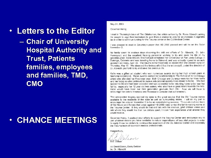 • Letters to the Editor – Chair of University Hospital Authority and Trust,
