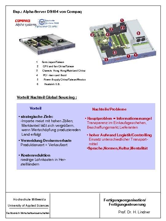 Bsp. : Alpha-Server DS 104 von Compaq 1 Fans Japan/Taiwan 2 CPU and fan