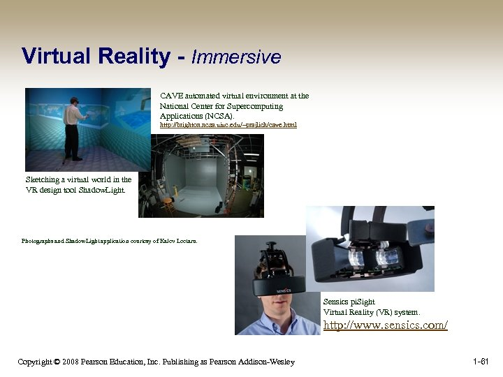 Virtual Reality - Immersive CAVE automated virtual environment at the National Center for Supercomputing