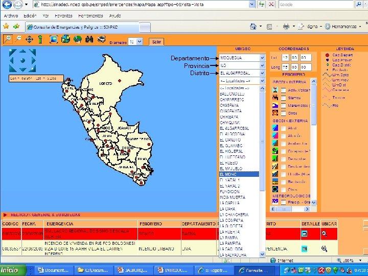 Departamento Provincia Distrito