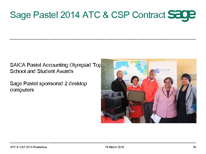 Sage Pastel 2014 ATC & CSP Contract SAICA Pastel Accounting Olympiad Top School and
