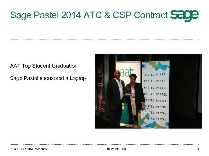 Sage Pastel 2014 ATC & CSP Contract AAT Top Student Graduation Sage Pastel sponsored