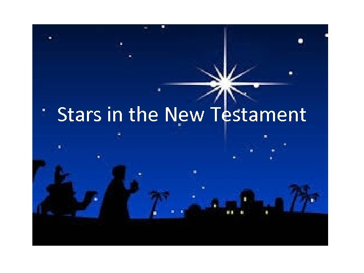 Stars in the New Testament