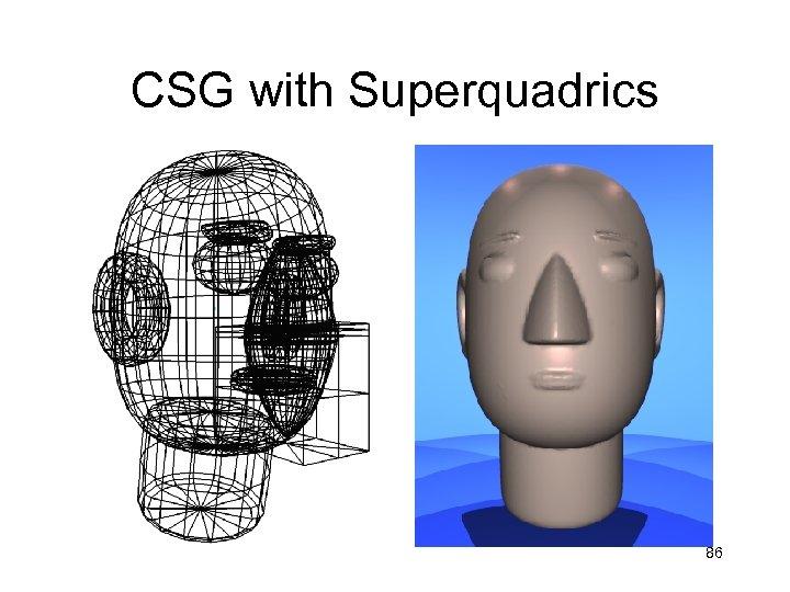 CSG with Superquadrics 86