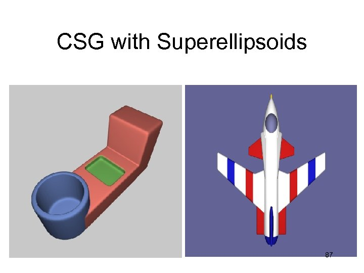 CSG with Superellipsoids 87