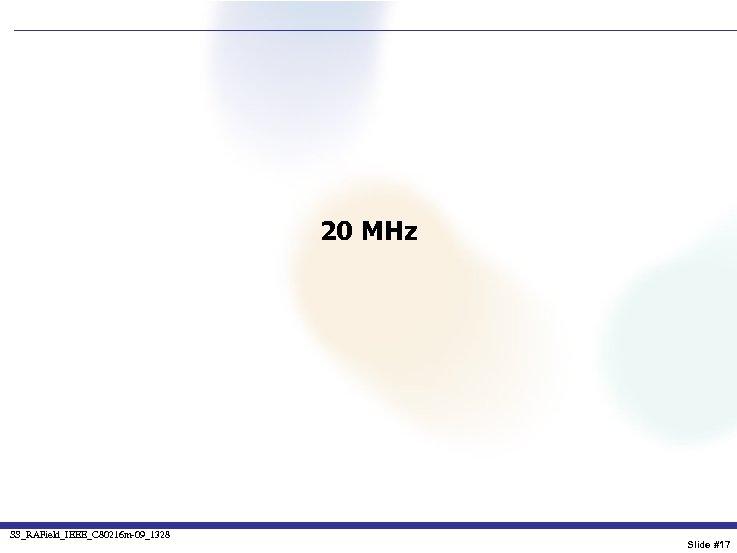 20 MHz SS_RAField_IEEE_C 80216 m-09_1328 Slide #17