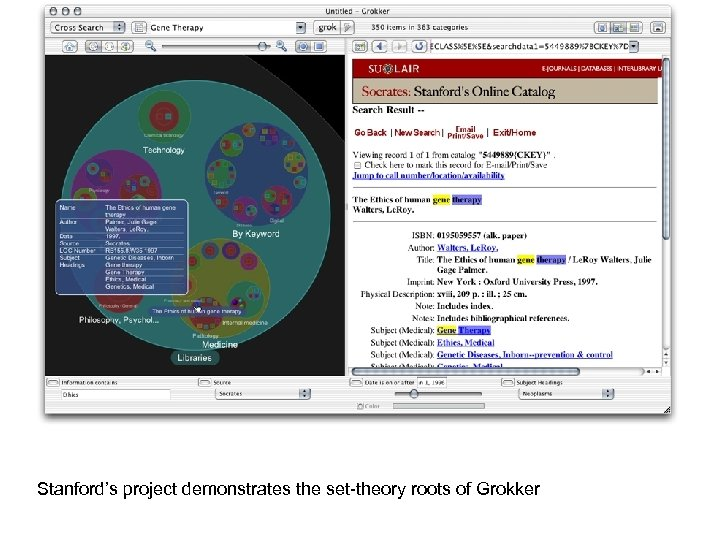 Stanford's project demonstrates the set theory roots of Grokker