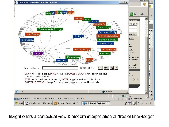 "Inxight offers a contextual view & modern interpretation of ""tree of knowledge"""