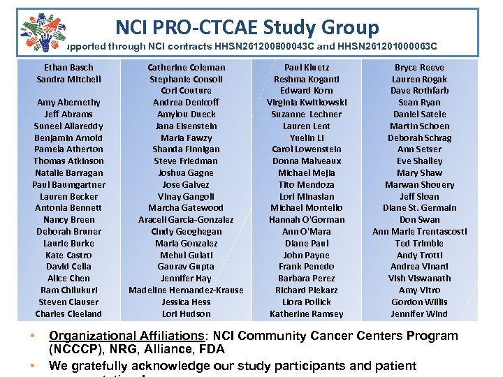 NCI PRO-CTCAE Study Group Supported through NCI contracts HHSN 261200800043 C and HHSN 261201000063
