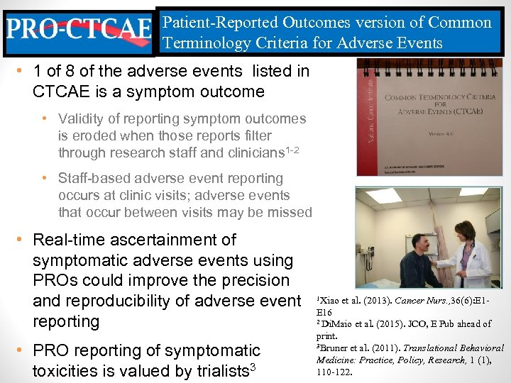 Patient-Reported Outcomes version of Common Terminology Criteria for Adverse Events • 1 of 8