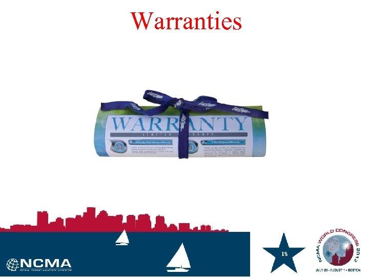Warranties 18 18