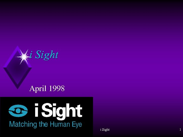 i Sight April 1998 i Sight 1