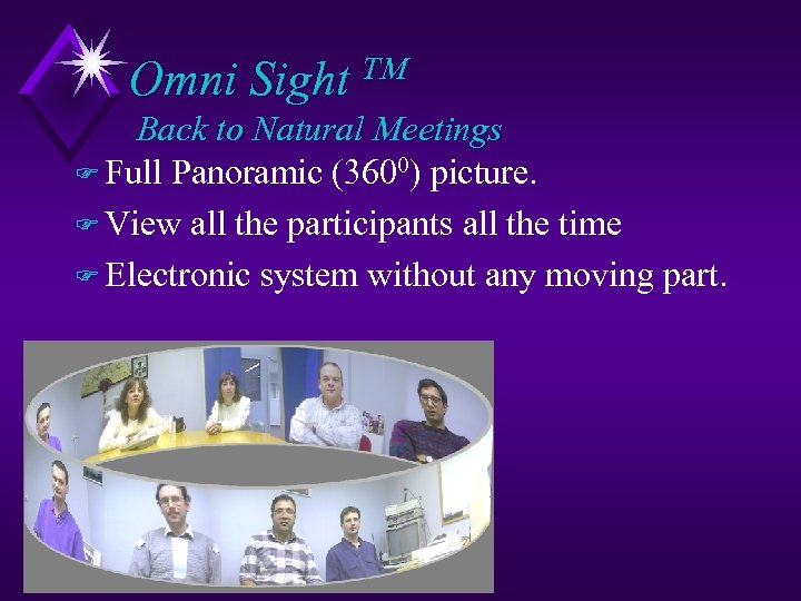 Omni Sight TM Back to Natural Meetings F Full Panoramic (3600) picture. F View