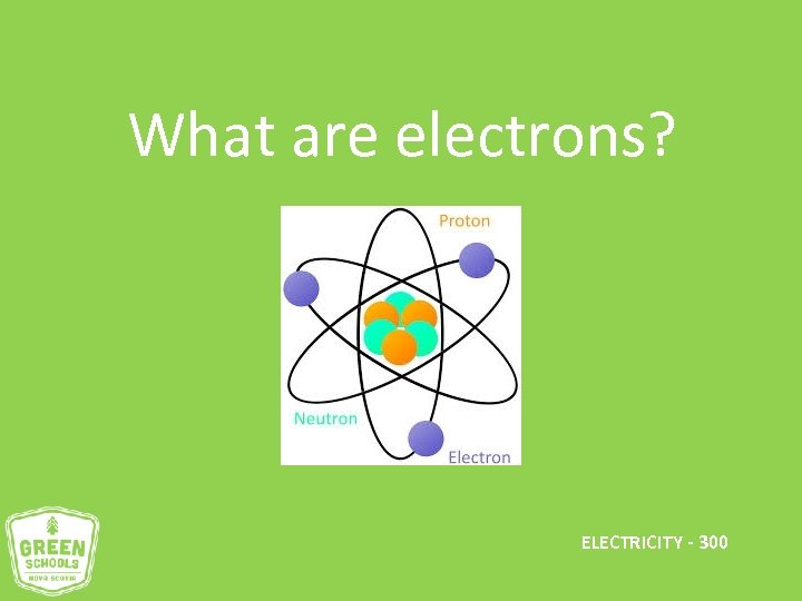 What are electrons? ELECTRICITY - 300