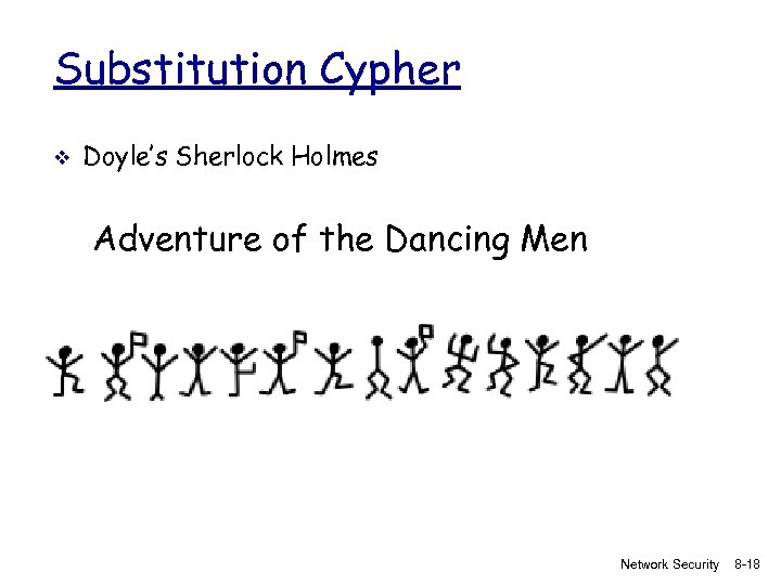 Substitution Cypher v Doyle's Sherlock Holmes Adventure of the Dancing Men Network Security 8