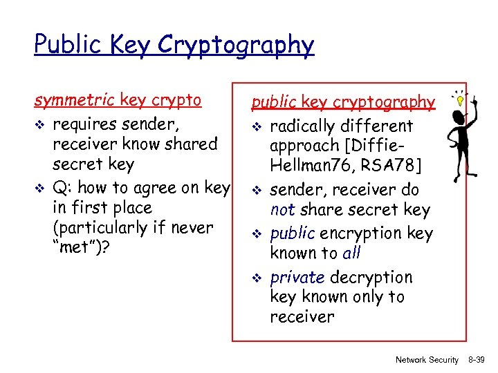 Public Key Cryptography symmetric key crypto v requires sender, receiver know shared secret key