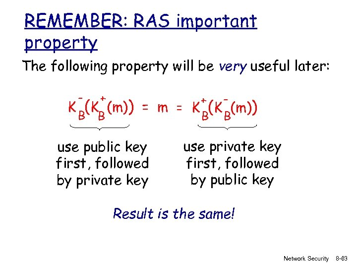 REMEMBER: RAS important property The following property will be very useful later: - +