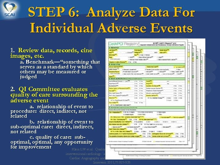 STEP 6: Analyze Data For Individual Adverse Events 1. Review data, records, cine images,