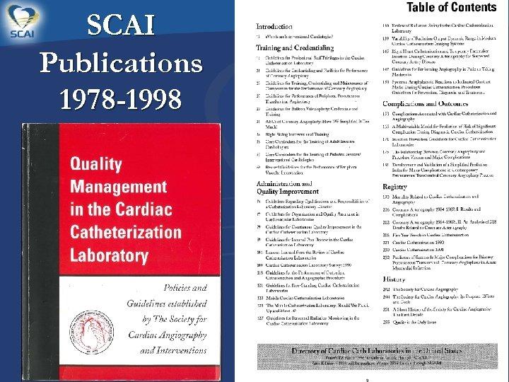 SCAI Publications 1978 -1998