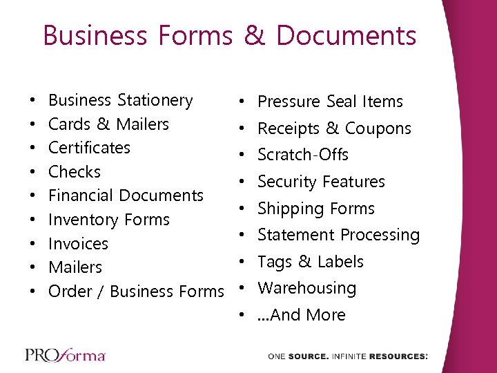 Business Forms & Documents • • • Business Stationery Cards & Mailers Certificates Checks