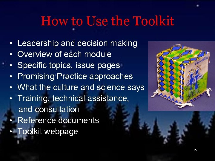How to Use the Toolkit • Leadership and decision making • Overview of each