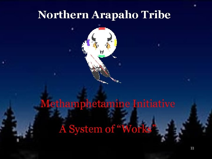 "Northern Arapaho Tribe Methamphetamine Initiative A System of ""Works"" 22"