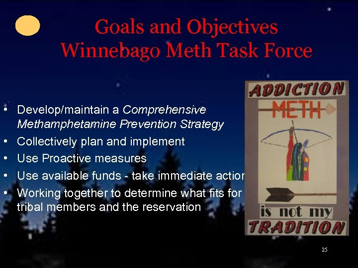 Goals and Objectives Winnebago Meth Task Force • Develop/maintain a Comprehensive Methamphetamine Prevention Strategy