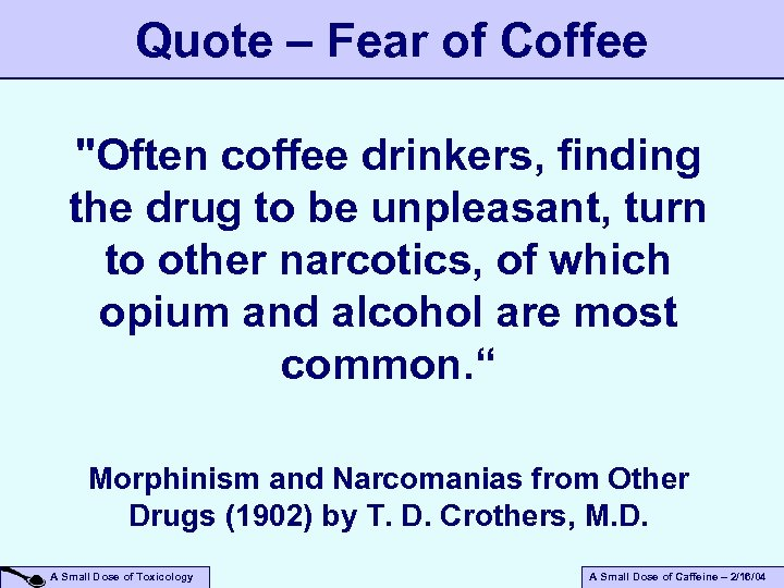 Quote – Fear of Coffee